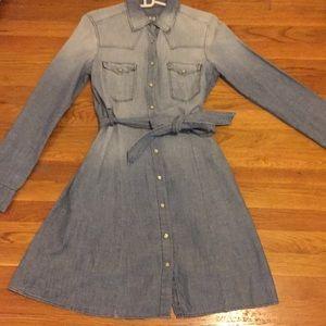 GAP 1969 denim wrap dress